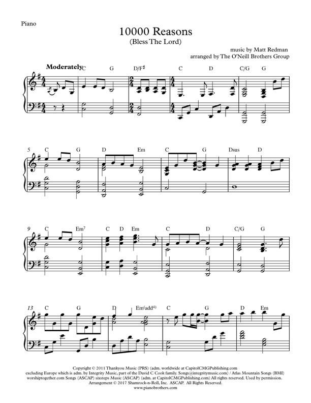 10000 reasons sheet music - Anta.expocoaching.co