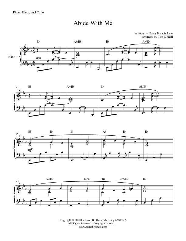 Abide With Me Sheet Music Preview Download Play
