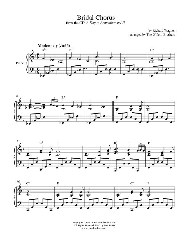 All Music Chords Here Comes The Bride Sheet Music Free Here Comes