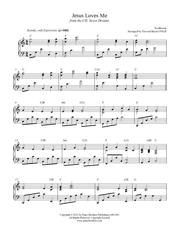 Jesus Loves Me - Sheet Music