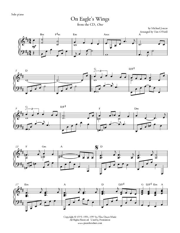 "Michael joncas ""on eagle's wings"" (arr. Craig kingsbury) satb."