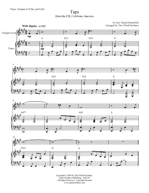All Music Chords simple gifts cello sheet music : Piano Music - Sheet Music - Taps