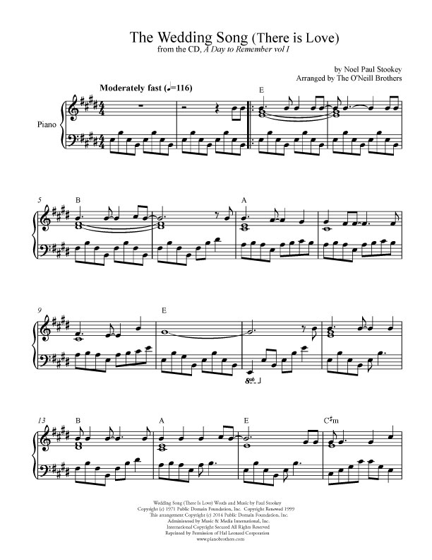 The Wedding Song | Wedding Sheet Music | Preview, Download, Play