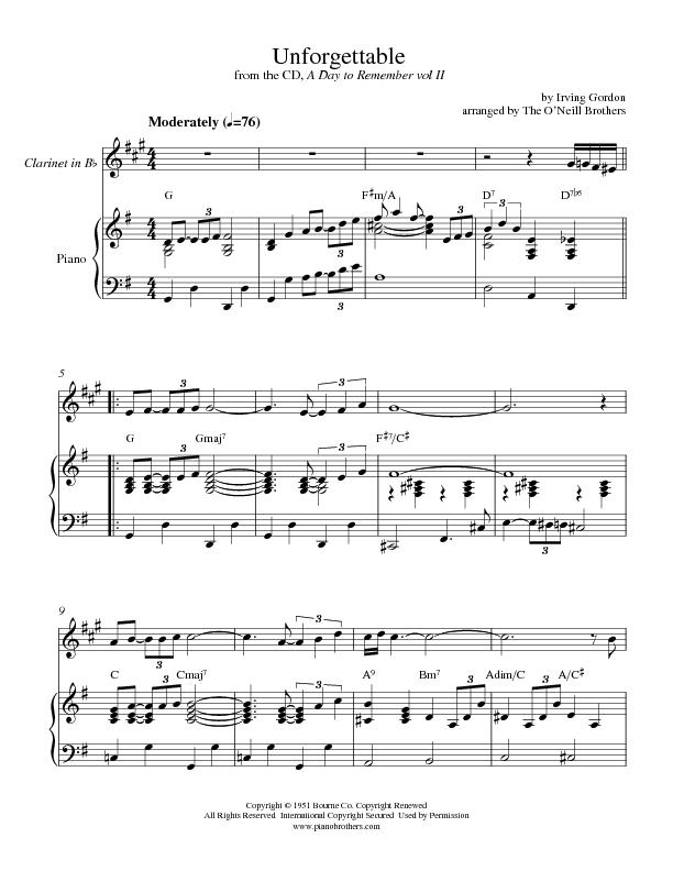 Unforgettable | Piano Wedding Sheet Music | Preview, Download, Play