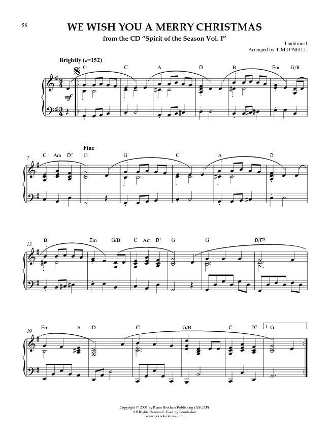 We Wish You A Merry Christmas - Christmas Piano Sheet Music ...