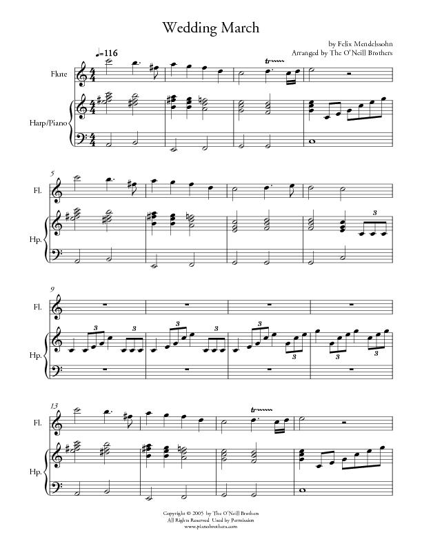 Wedding March Piano Wedding Sheet Music Preview Download Play